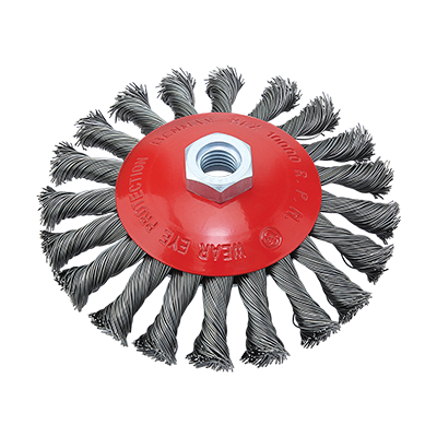 TWISTED KNOT WIRE CONICAL BRUSH M14