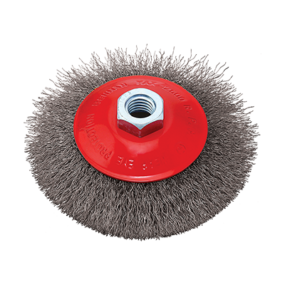 WIRE CONICAL  WHEEL BRUSH M14