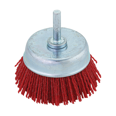 NYLON CUP BRUSH  WITH SHANK
