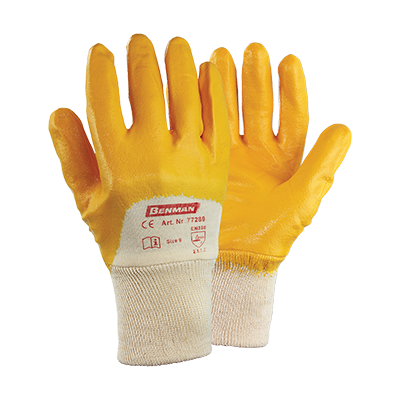 NITRILE (NBR) COATED GLOVES THICKNESS 0,9MM