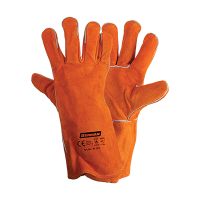 LEATHER GLOVES FOR WELDING 35CM