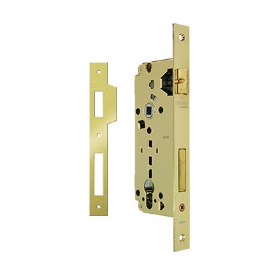 CYLINDER MORTICE LOCK Κ45-85 WITH SQUARE LIPPED STRIKING PLATE