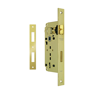 MORTICE LOCK K45-75 WITH SQUARE STRIKING PLATE