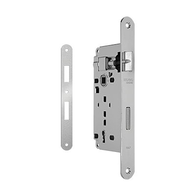 MORTICE LOCK K45-75 WITH ROUND CORNERS STRIKING PLATE