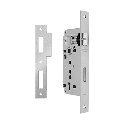 MORTICE LOCK K45-75 WITH SQUARE LIPPED STRIKING PLATE