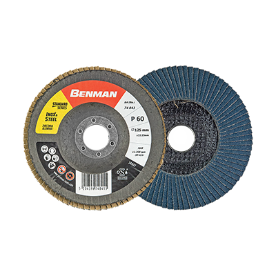 STANDARD LINE DEPRESSED FLAP DISC WITH CURVE 125