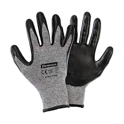 CUT RESISTANT KNITTING GLOVES,  NITRILE COATED