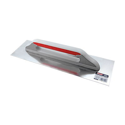 STAINLESS STEEL  FINISHING TROWEL  WITH PLASTIC HANDLE