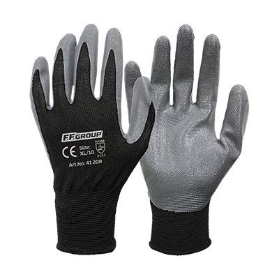 NITRILE PALM COATED GLOVES  WITH POLYESTER KNITTING