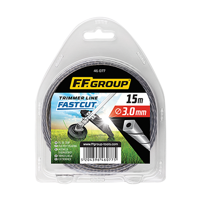 TRIMMER LINE FAST CUT,  DUO CORE SQUARE TWISTED